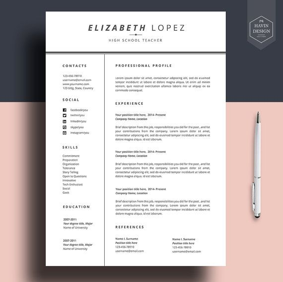 The 25+ best Curriculum vitae template free ideas on Pinterest - free creative resume templates