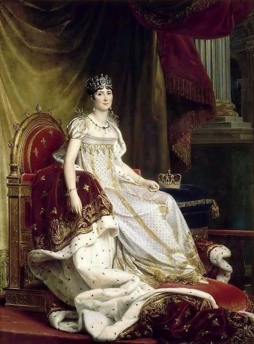 Франсуа Жерар -- Императрица Жозефина Богарне, сидящая на троне. Версальский дворец. Описание картины, скачать репродукцию.