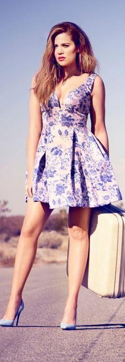 Khloe Kardashian: Dress – Zimmerman  Shoes – Gianvito Rossi