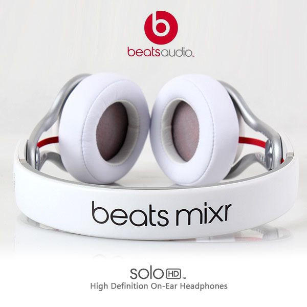 Image result for Genuine Beats by Dr. Dre Mixr Neon White DJ Swivel Headphones images