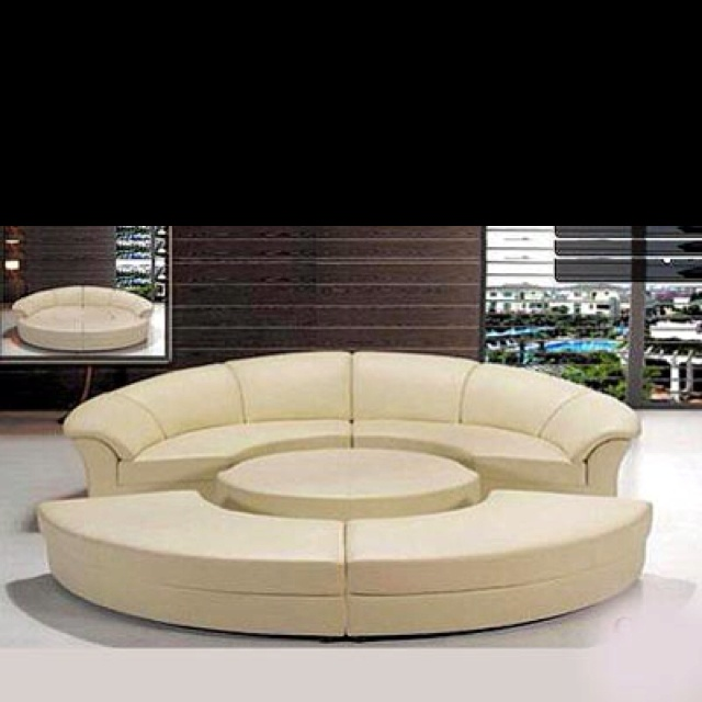 83 best Couches images on Pinterest | Leather sectional sofas Modern sectional sofas and Home : white leather circular sectional - Sectionals, Sofas & Couches