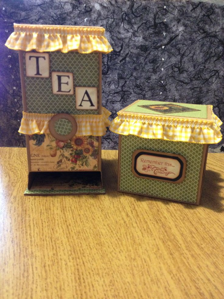 Tea box and Explosion card