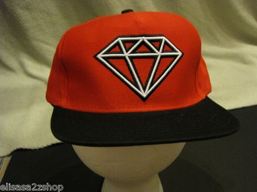 Men S Red Rare Trucker Hat Cap Giant Diamond Supply Co Company One Size Fits