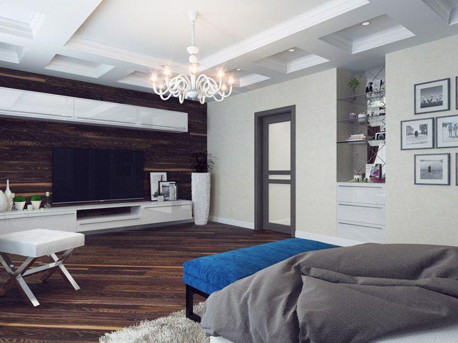 Спальня. Интерьер квартиры с элементами стиля модерн в г. Пушкин