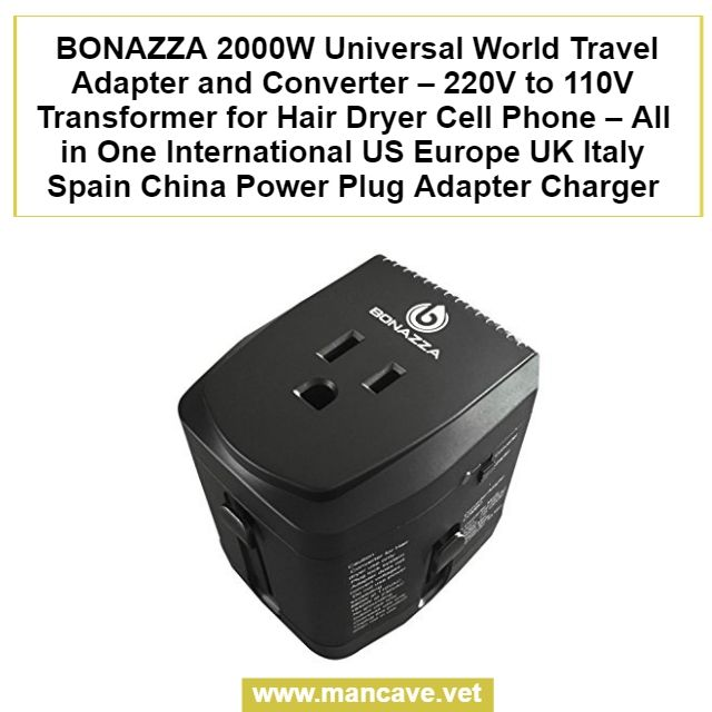 Bonazza 2000w Universal World Travel Adapter And Converter 220v To 110v Transformer For Hair Dryer Cell Phone All In One International Us Europe Uk Italy Sp Travel Adapter Power