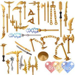 LEGO-Ninjago-Set-26-Golden-Weapons-Spinjitzu-weapons-Shuriken-Dragon-Sword