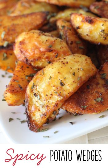 These spicy potato wedges have a great kick to them and are relatively healthy!