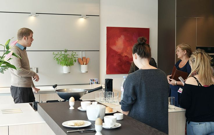 Interior Design students from Southampton Solent University visit hobsons|choice Winchester to explore our bulthaup kitchen showroom.