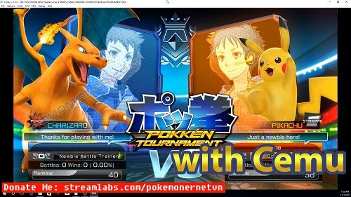 http://www.pokemoner.com/2017/11/pokken-tournament-for-cemu.html Pokkén Tournament for Cemu  Name: Pokkén Tournament Developer(s): Bandai Namco Games Publisher(s): Nintendo - The Pokémon Company (JP) Platforms(s): Wii U Description: Pokkén Tournament (JP) is a Pokémon 3D fighting game developed by Bandai Namco Games. It has many influences from the Tekken series. An enchaned port known as Pokkén Tournament DX will release for Nintendo Switch on September 22 2017. Gameplay The game is played…