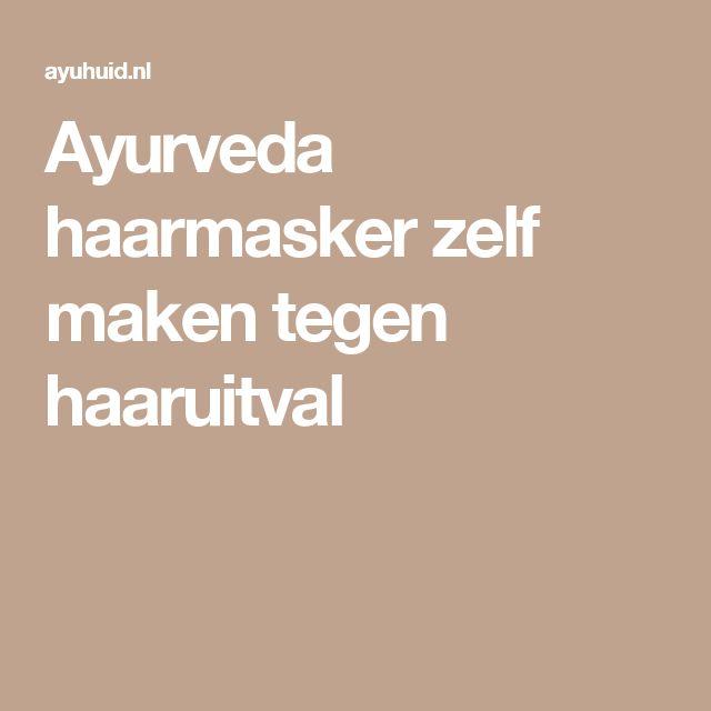 Ayurveda haarmasker zelf maken tegen haaruitval