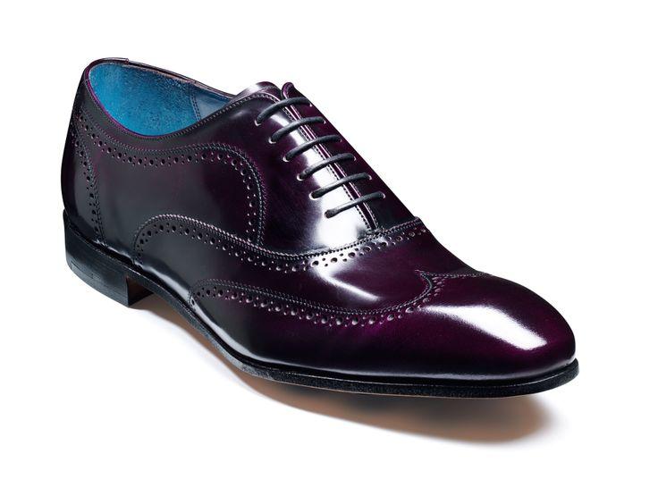 Barker Holmes - Aubergine cobbler Mens Hi-shine leather oxford semi brogue http://www.robinsonsshoes.com/barker-holmes.html