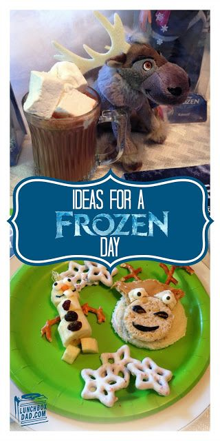 Need some ideas for the holiday break?  Try an easy and fun Disney FROZEN day!  Disney Frozen Sven Sandwiches and Olaf Banana Snowmen #FrozenFun #shop #cbias