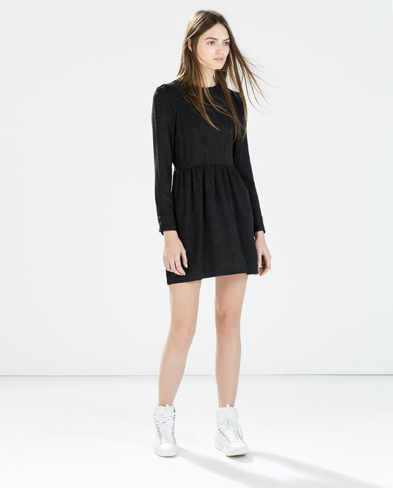 LONG SLEEVED DRESS WITH GATHERED WAIST from Zara