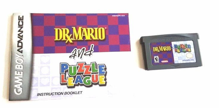 Gameboy Advance Game GBA SP DS DR. MARIO & PUZZLE LEAGUE + Manual 2 Puzzle Games