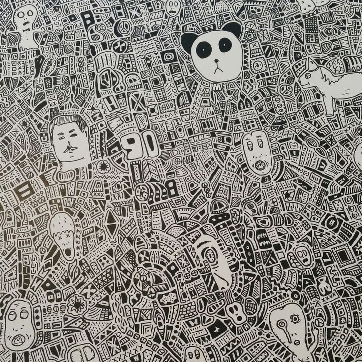 David Gee is a doodle illustrator based in Manchester in a studio above our shop. He is influenced by Kunst, Black n White and Pandas!This print is A3 in size and is printed on thick Paper, all prints are signed by the artist.