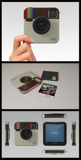 Instagram Socialmatic Camera concept. Details here: http://www.adr-studio.it/site/?p=399