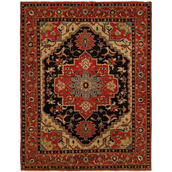 Martingale Hand Knotted Wool Black Rust Area Rug House