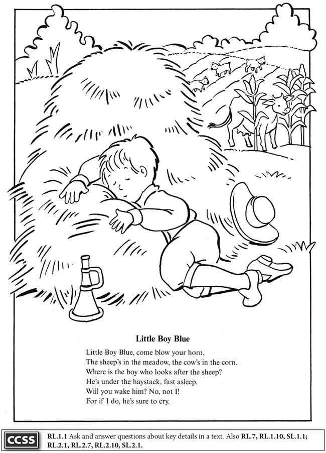 Mother Goose Coloring Pages Coloring Page 1 2 3