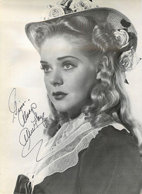 Faye, Alice - Signed Photo