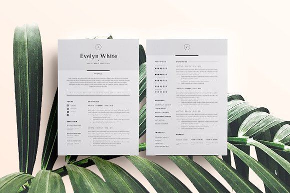 Resume Template 4 Page | CV Template by The Template Depot on @creativemarket Ready for Print Resume template examples creative design and great covers, perfect in modern and stylish corporate business. Modern, simple, clean, minimal and feminine layout inspiration to grab some ideas.