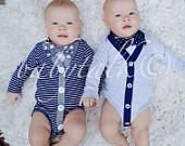 Cardigan Onesie and Bowtie sets created especially for your little man! Super cute trendy clothing for your baby boy! Easter, Weddings, Photos, Baptism, Birthda