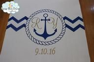 Beautiful #aislerunner for a nautical themed wedding  by Starry Night Design