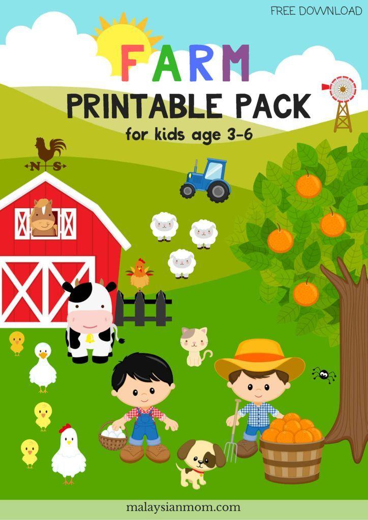 FARM PRINTABLE PACK | Activity sheets for kids, Farm ...