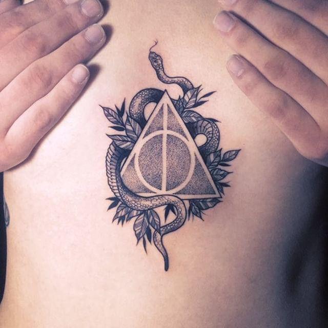 Harry Potter Slytherin Tattoo In 2020 Slytherin Tattoo Harry Tattoos Tattoos
