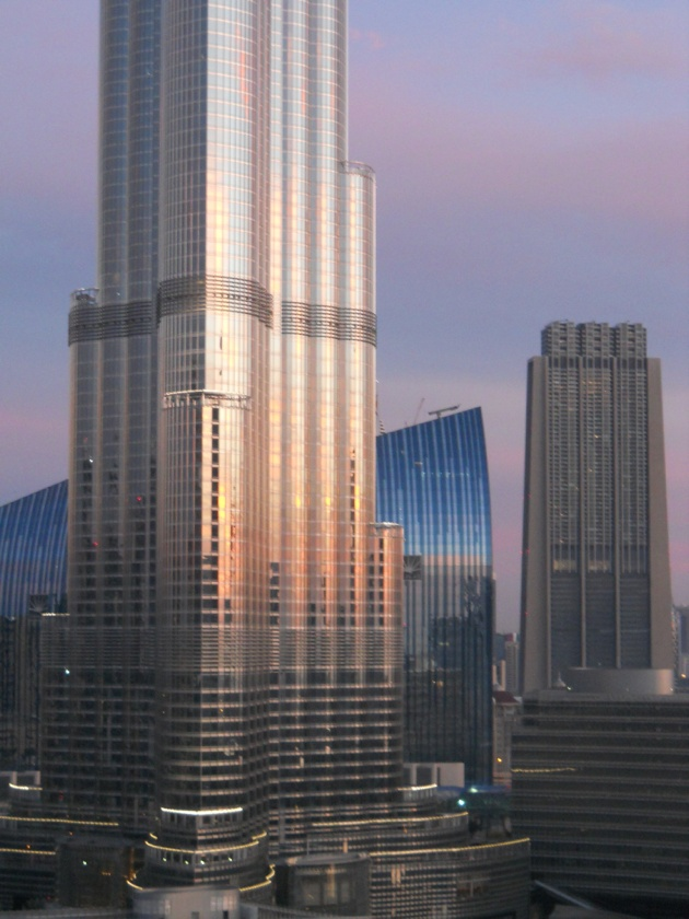 The Burj Khalifa at dawn from our balcony |Pinned from PinTo for iPad|