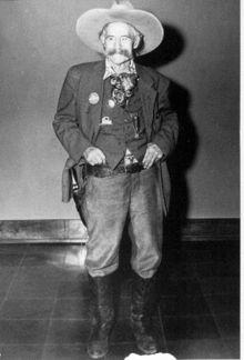 "Frank ""Pistol Pete"" Eaton  BornFrank Boardman Eaton  October 26, 1860  Hartford, Connecticut, U.S.  DiedApril 8, 1958 (aged 97)  Perkins, Oklahoma, U.S.  OccupationAuthor  Cowboy  Scout  Indian fighter  U.S. Marshal"