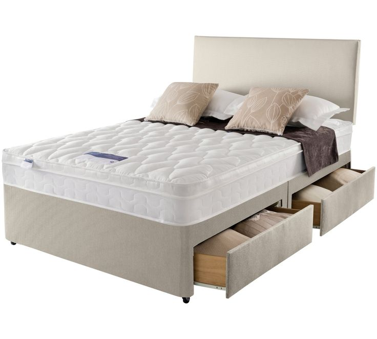 Buy Silentnight Auckland Natural Small Double 4 Drw Divan Bed at Argos.co.uk, visit Argos.co.uk to shop online for Divan beds, Beds, Bedroom furniture, Home and garden