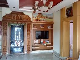 Puja Room With Tv Cabinet