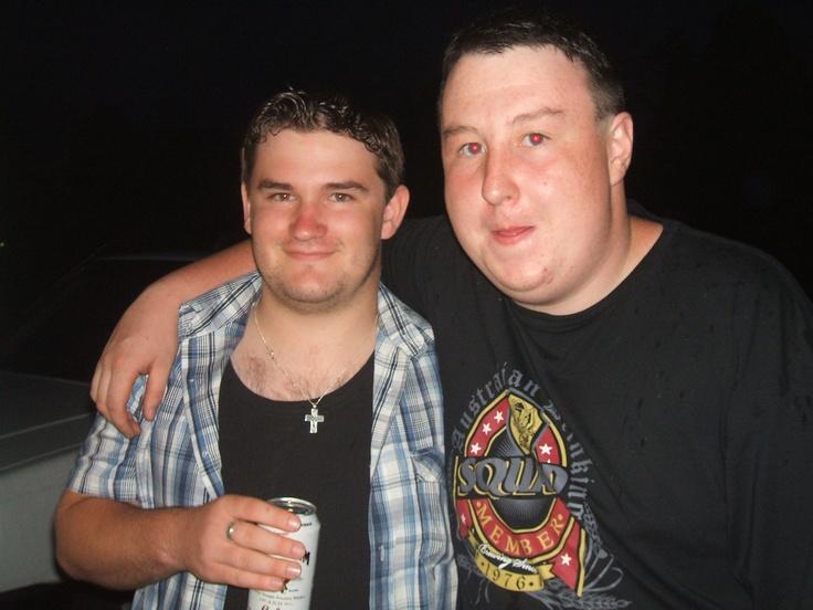 my eldest boy chris and his his mate chris...NYE 2009