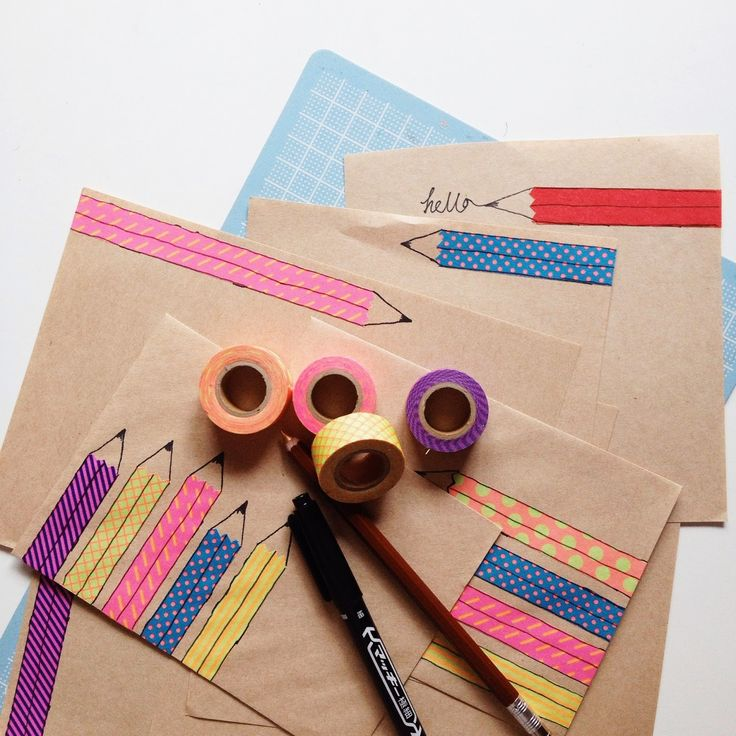 cute pencil envelopes ༺✿Teresa Restegui http://www.pinterest.com/teretegui/✿༻