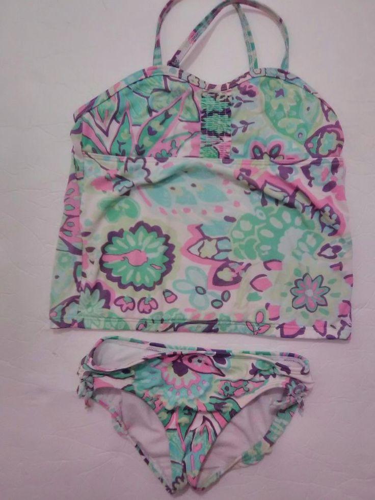Lands' End Kids Swimwear 2 piece little girls Size 4 Small  #LandsEnd #Swimsuit