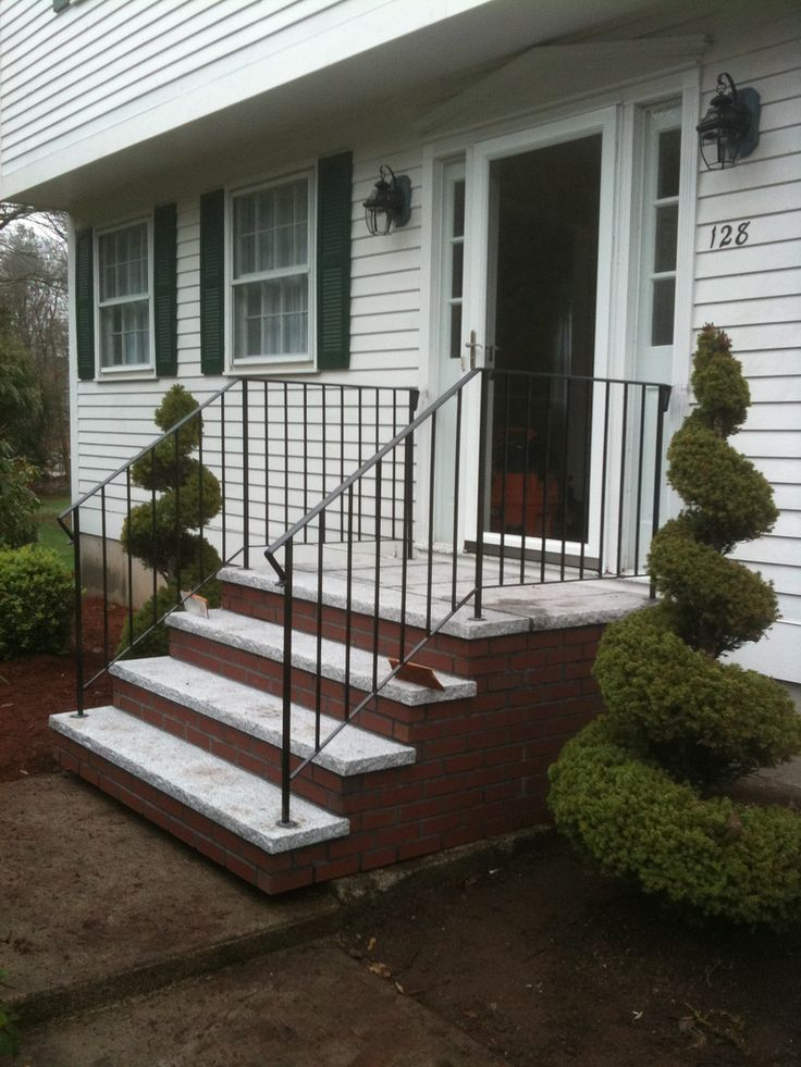 Best Design Modern Stair Interactive Front Porch Using White 400 x 300