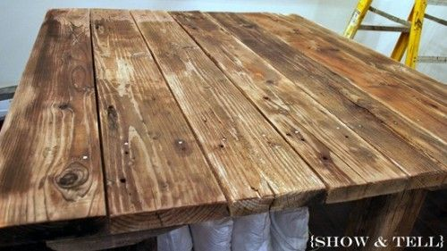 How To Weather New Wood With Vinegar - this would be a cool way to make things that look like they were made with old barn wood.