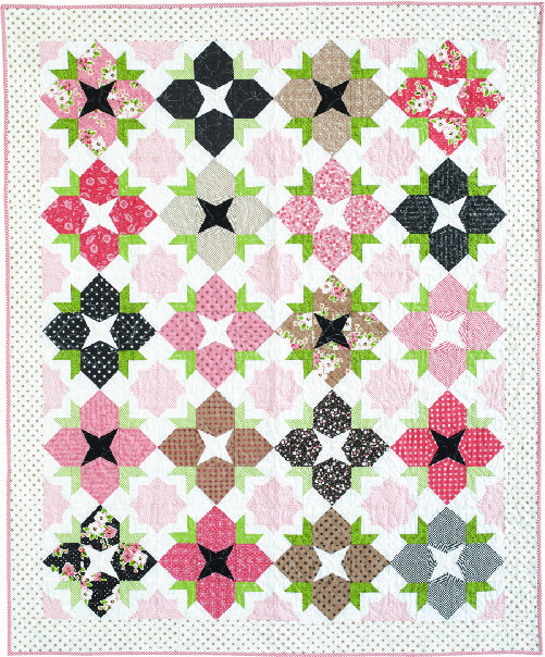FULL BLOOM by Allison Jensen: Allison's delightful pattern looks just like a flower garden grown from the Olive's Flower Market collection from Moda Fabrics. Pattern in the March/April 2017 issue of McCall's Quilting magazine.