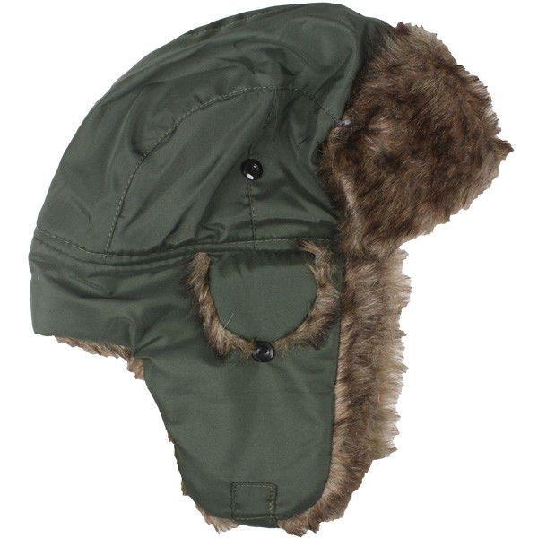 Winter HAT PLOT GREEN MEN WOMEN Trapper Aviator Fur Ski Warm Cap Flap VALENTINES