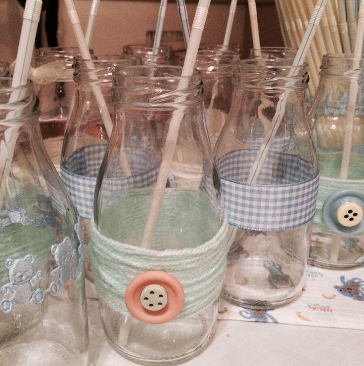 Baby shower drinking bottles