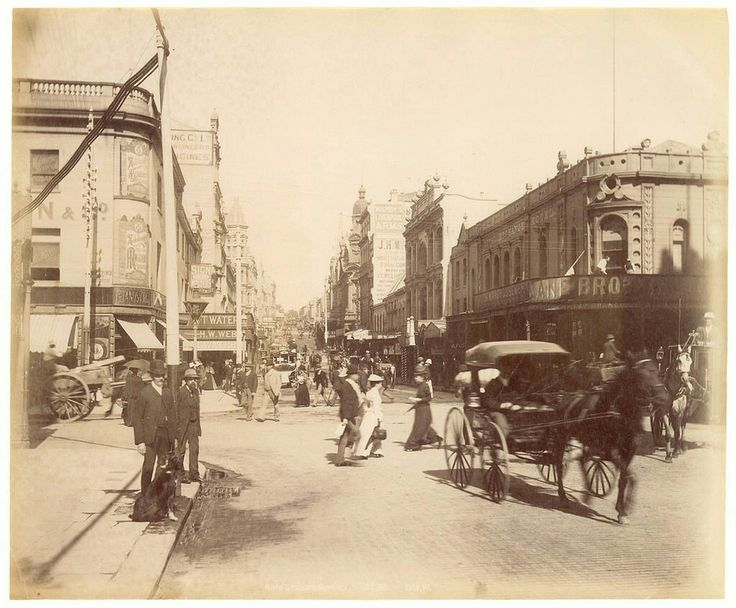 King St,Sydney in the 1890s.