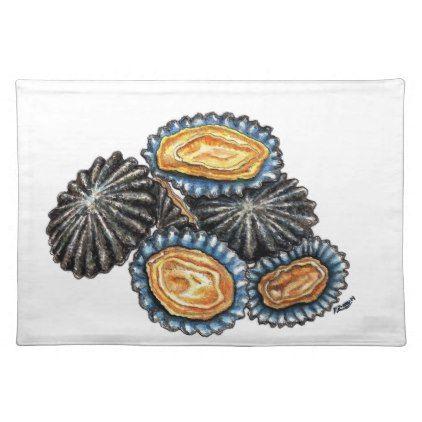 Lapas Patella Shells Seafood kitchen decor Cloth Placemat - home decor design art diy cyo custom