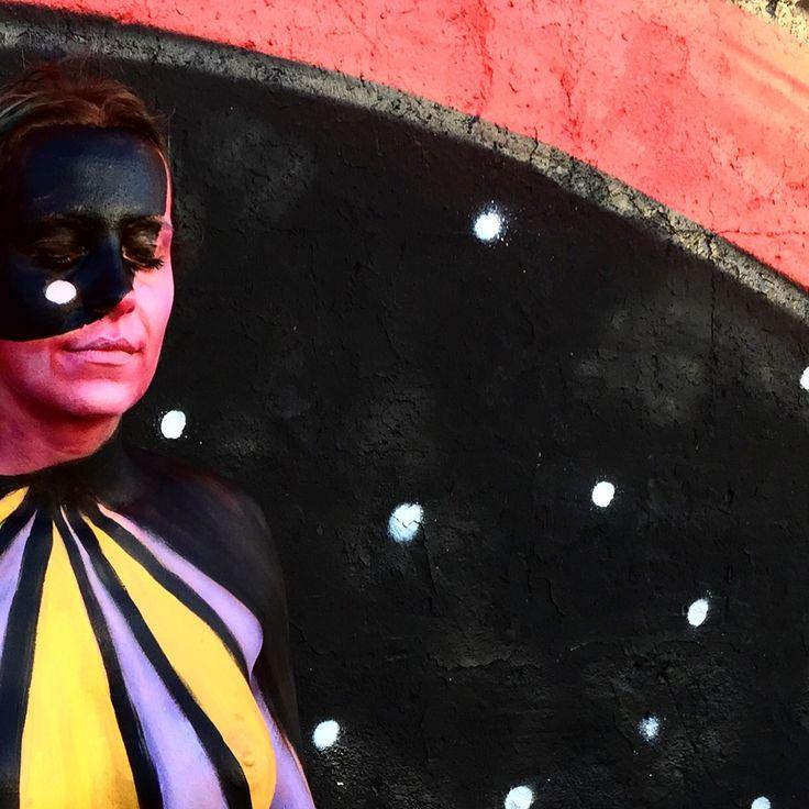B2B Camouflage Bodypainting by Giada Yu Gilardoni and Lela Perez Ibiza Acid Sunday 2016