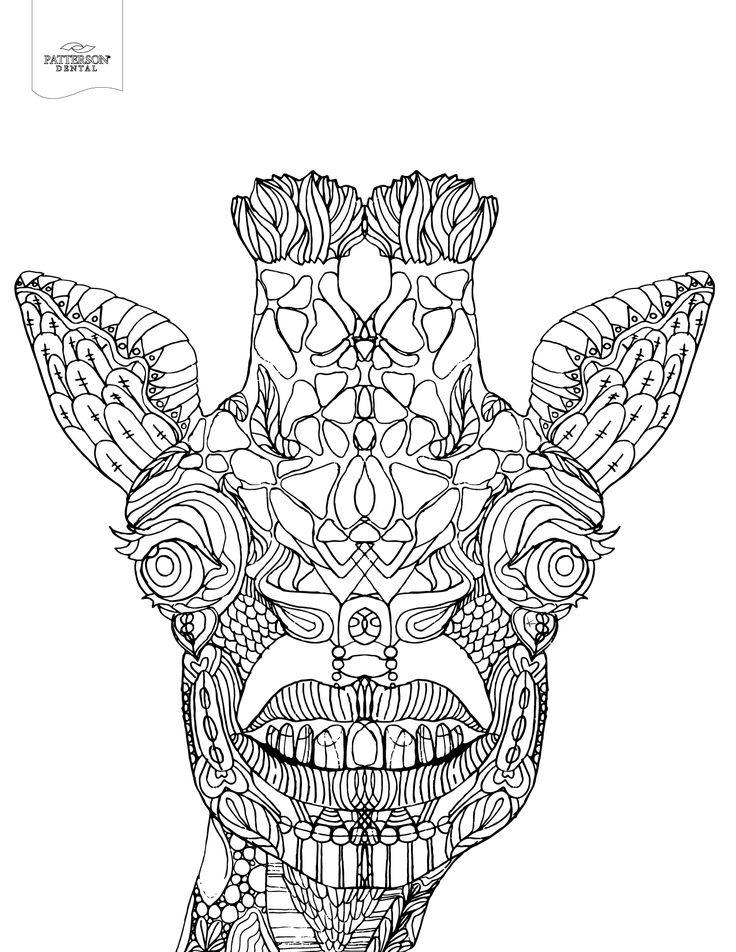 real giraffe coloring pages - photo#33