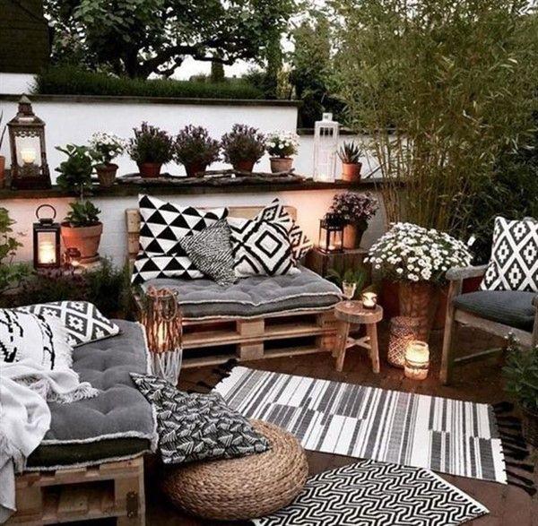 Pallet Furniture Ideas For Outdoor Decoration Balcony Decoration Eco Friendly Garden Ideas Outdoor Patio Decor Backyard Decor Boho Patio