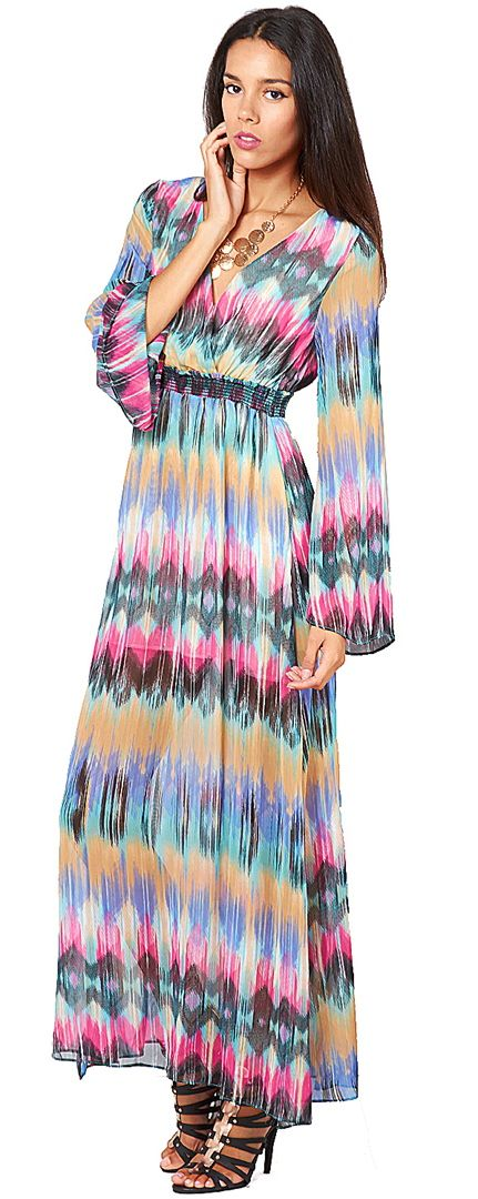 When you don't want to #worry about short dress maintenance, stay #fresh and #pretty in a flowing maxi.