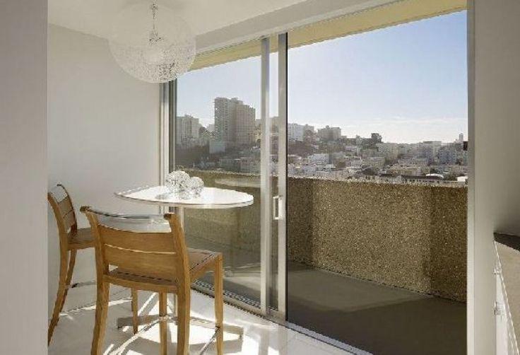 Sliding Door Design For Apartments: Photos Glass Sliding Door In Modern Fontana Apartment Interior Design with balcony design