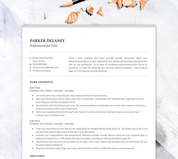 Professional Resume Template For Finance Business Cv Instant