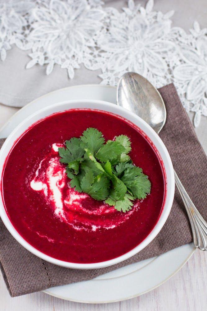 Lubię to...: Buraki. Cytryna i kolendra. Prosta zupa.
