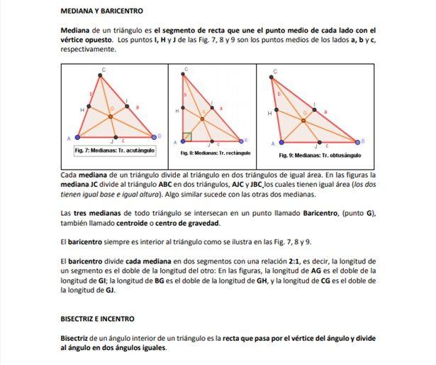 Las Medianas Trazadas En Tres Tipos De Triangulos Un Acutangulo